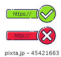 Web ウェブ 繋がりのイラスト 45421663
