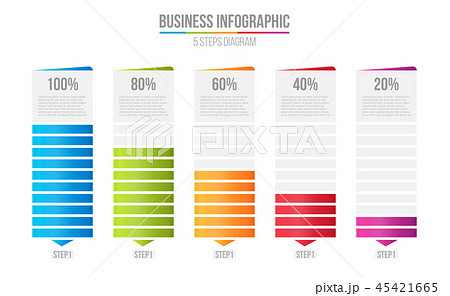 Creative vector illustration of columns bar chart, comparison table infographic isolated on 45421665