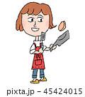 女性 料理 主婦のイラスト 45424015