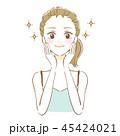 美顔 女性 スキンケアのイラスト 45424021
