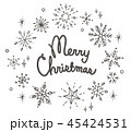 雪 冬 クリスマスのイラスト 45424531
