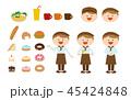 店員 スタッフ 接客のイラスト 45424848