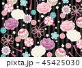 和柄 和 花柄のイラスト 45425030