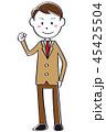 高校生 ブレザー 男の子のイラスト 45425504