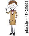 高校生 ブレザー 女の子のイラスト 45425993