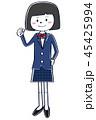 高校生 ブレザー 女の子のイラスト 45425994