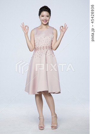 beautiful young woman announcing, shouting, speaking concept photo. attractive young woman isolated. 239 45426936