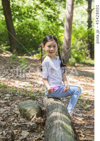 Cute little boy and girl harvesting together. Gardening, planting concept photo 186 45428001