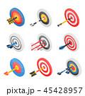 Target icon set, isometric style 45428957