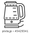 Electric kettle icon, outline style 45429341