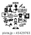 ビデオ アイコン セットのイラスト 45429763