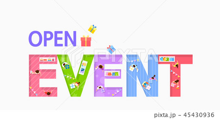 Number or text shopping event typography element. Ideal for poster, banner design vector illustration 017 45430936