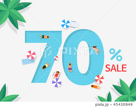 Number or text shopping event typography element. Ideal for poster, banner design vector illustration 007 45430949