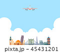 Korean ornament for blank template. banner, greeting card design vector illustration 036 45431201