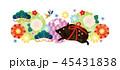 亥年 猪 亥のイラスト 45431838
