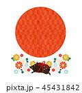 年賀状素材 亥年 猪のイラスト 45431842