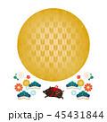 年賀状素材 亥年 猪のイラスト 45431844