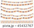 ガーランド パーティフラッグ デコレーションのイラスト 45432767