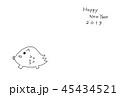 2019年年賀状 いのしし 45434521