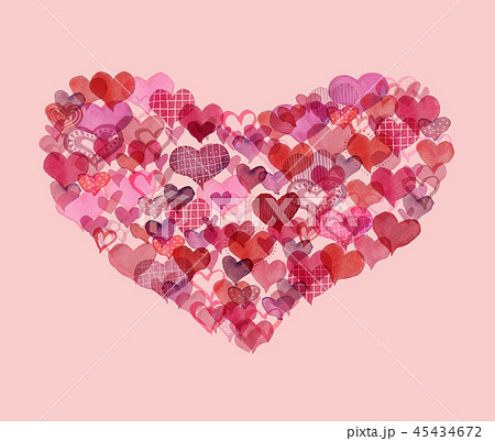 Heart of hearts/pink background 45434672