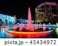 よみうりランド 遊園地 夜景の写真 45434972