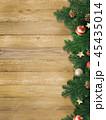 クリスマス 背景 木目のイラスト 45435014