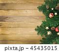 クリスマス 背景 木目のイラスト 45435015