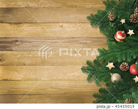 背景-木目-クリスマス-飾り 45435015
