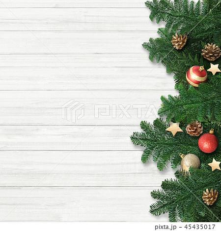 背景-白壁-クリスマス-飾り 45435017