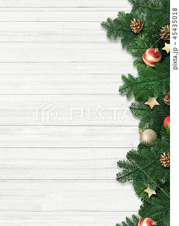 背景-白壁-クリスマス-飾り 45435018