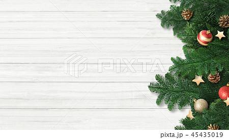 背景-白壁-クリスマス-飾り 45435019