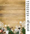 クリスマス 背景 木目のイラスト 45435021
