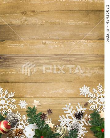 背景-木目-クリスマス-飾り 45435021