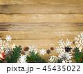 クリスマス 背景 木目のイラスト 45435022