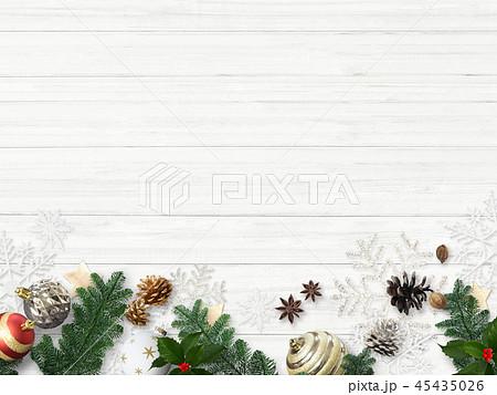 背景-白壁-クリスマス-飾り 45435026