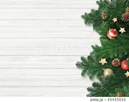 背景-白壁-クリスマス-飾り 45435033