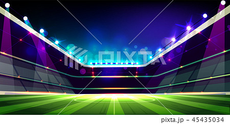 Empty soccer field before game cartoon vector 45435034