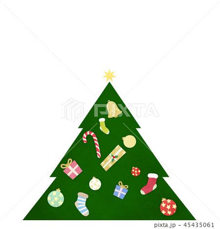 背景-クリスマス-ツリー-飾り 45435061