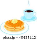 パンケーキ ホットケーキ コーヒーのイラスト 45435112
