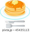 パンケーキ ホットケーキ デザートのイラスト 45435113