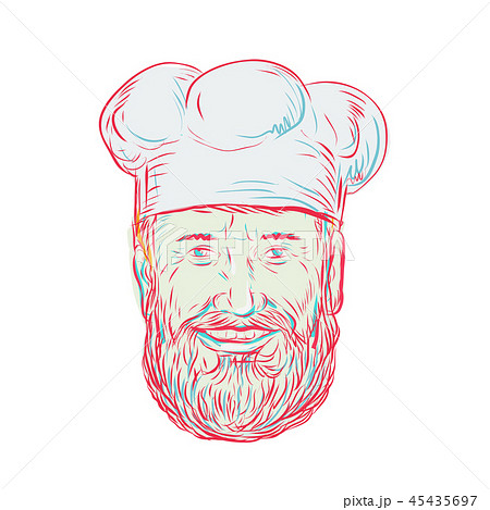 Hipster Baker Cook Chef Head 45435697
