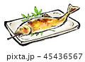 筆描き 鮎 塩焼き 45436567