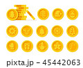 Christmas Cryptocurrency logo set - Santa Claus hat, bell, gingerbread man, ball, deer, snowman 45442063