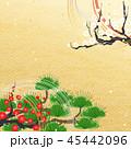 新年 松 紅白梅 水引 生け花 45442096
