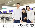 空港 旅行 笑顔の写真 45445132