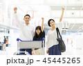 空港 旅行 笑顔の写真 45445265