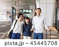 空港 旅行 笑顔の写真 45445708