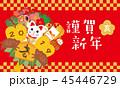 年賀状 亥 猪のイラスト 45446729
