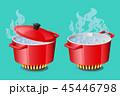 熱い 鍋 アイコンのイラスト 45446798