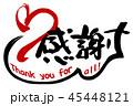感謝 筆文字 Thankのイラスト 45448121